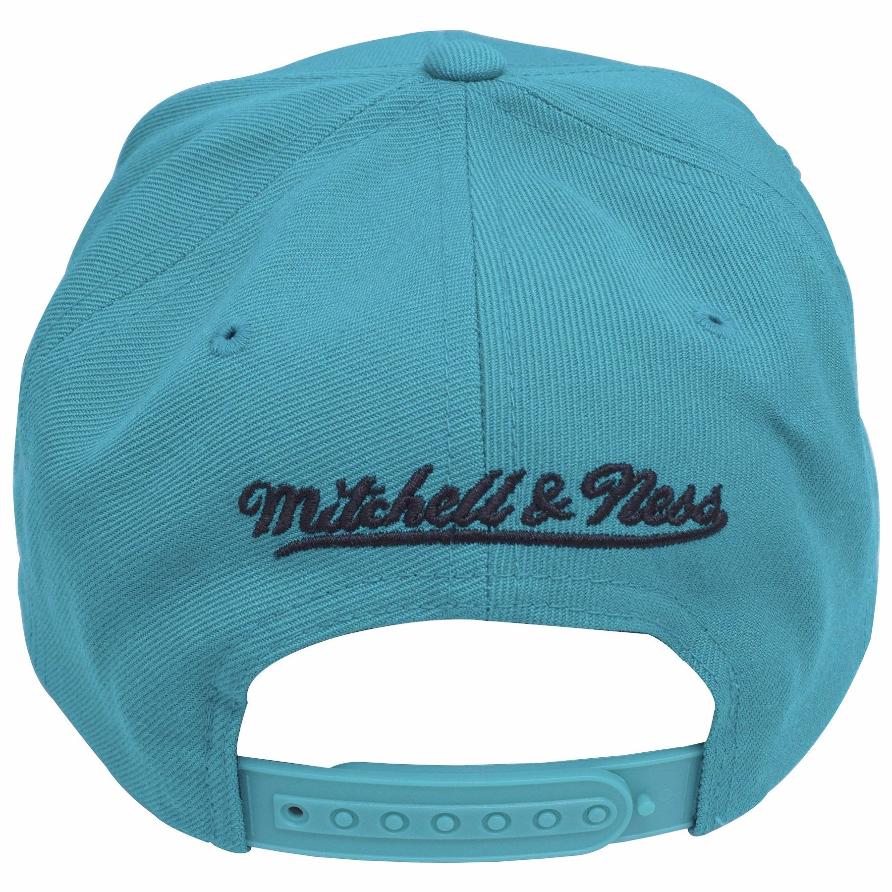 new style 8bcb9 3882d ... on the back of the san antonio spurs vintage classic snapback hat, the  mitchell and ...