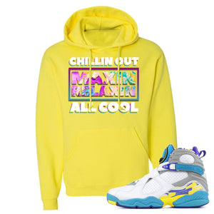 Air Jordan 8 WMNS White Aqua Sneaker Hook Up Chillin Out Maxin Relaxin All Cool Neon Yellow Hoodie