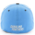 Embroidered on the back of the Carolina Panthers stretch fit cap is the Carolina Panthers wordmark in white