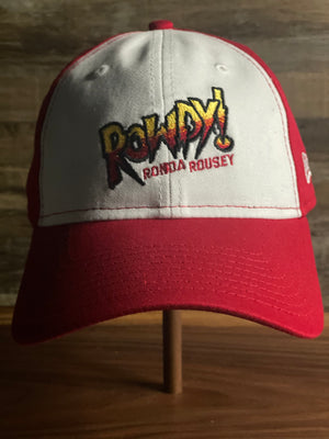 ROWDY RONDA ROUSEY Hat  | DAD HAT | WWE | RED/WHITE | RONDA ROUSEY Cap