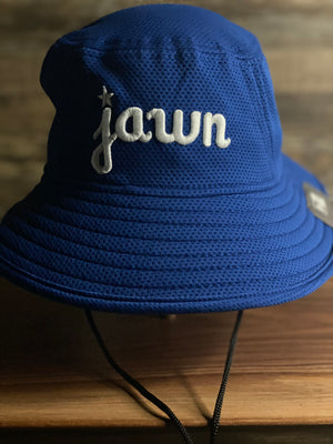 front of JAWN BUCKET HAT | PHILADELPHIA INSPIRED JAWN BOONIE | BLUE