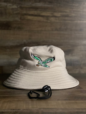 Eagles Throwback Bird  Bucket | Vintage Retro Stone Bucket Hat | vintage bird Khaki bucket