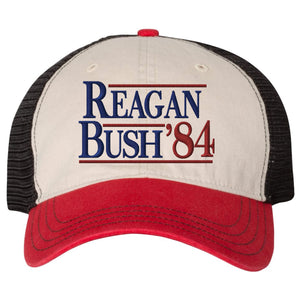 Embrace the Grunt Life and your inner Grunt Style with this patriotic united states of america military inspired mesh-back Reagan Bush 1988 conservative campaign hat