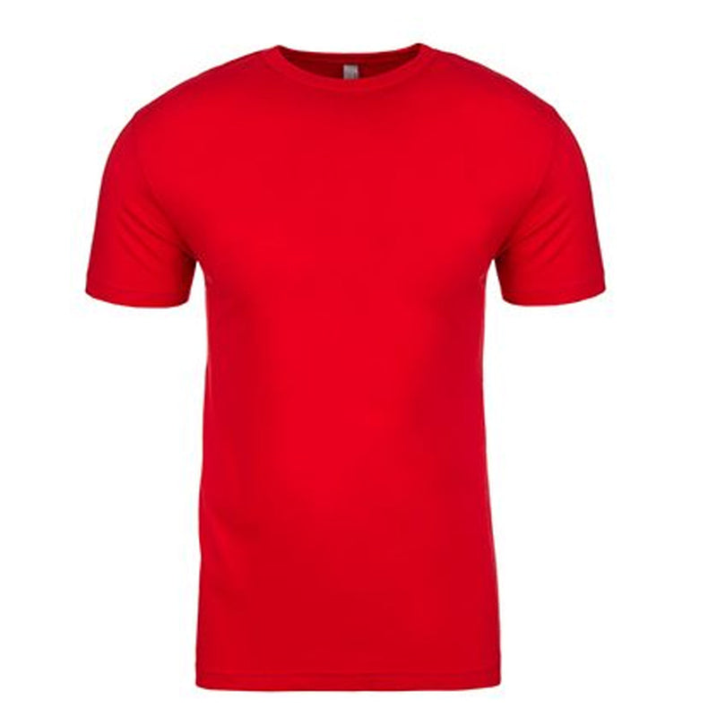 this solid red 100% cotton t-shirt is made of ringspung cotton and is completely red