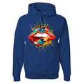 Nike WMNS Air Max 98 Multicolor Sneaker Hook Up Lips Geometric Design Royal Blue Hoodie