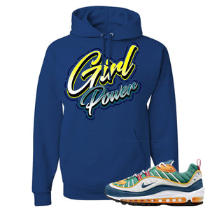 Nike WMNS Air Max 98 Multicolor Sneaker Hook Up Girl Power Royal Blue Hoodie