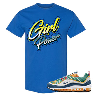 Nike WMNS Air Max 98 Multicolor Sneaker Hook Up Girl Power Royal Blue T-Shirt