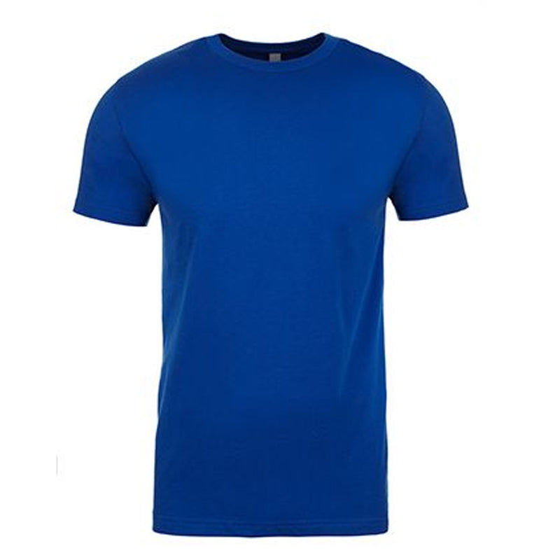 the royal blue t-shirt is made of 100% ring spun cotton and is solid blue