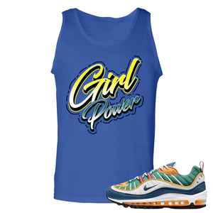 Nike WMNS Air Max 98 Multicolor Sneaker Hook Up Girl Power Royal Blue Mens Tank Top
