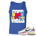 Nike WMNS Air Max 270 React Bauhaus Sneaker Hook Up Good Vibes Royal Blue Mens Tank Top