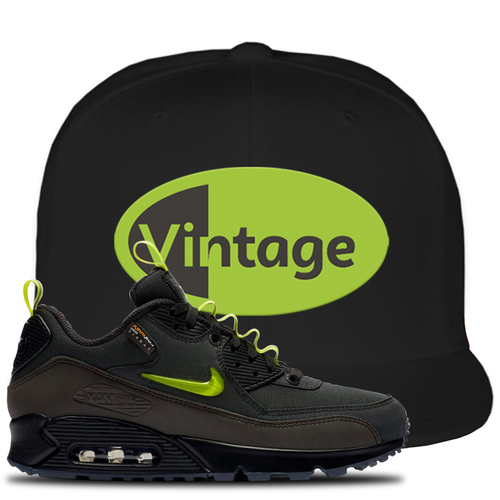 The Basement X Nike Air Max 90 Manchester Vintage Oval Black Sneaker Matching Snapback Hat