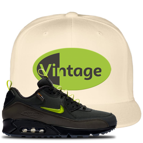 The Basement X Nike Air Max 90 Manchester Vintage Oval White Sneaker Matching Snapback Hat