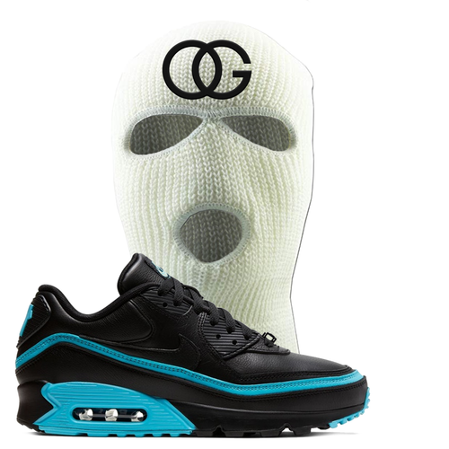 Undefeated x Nike Air Max 90 Black Blue Fury OG White Sneaker Matching Ski Mask