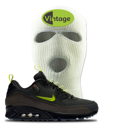 The Basement X Nike Air Max 90 Manchester Vintage Oval White Sneaker Matching Ski Mask