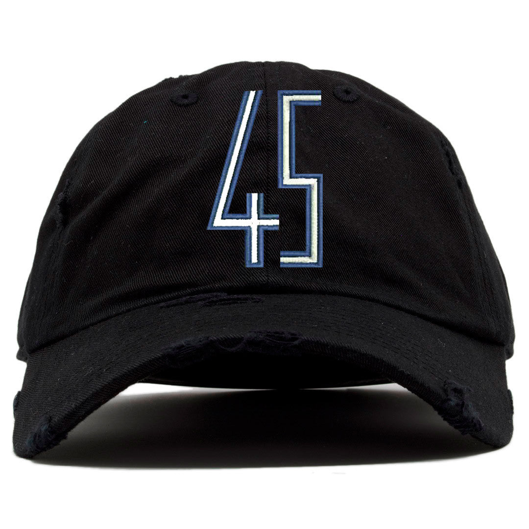 e66f7c83c9716f on the front of the space jam squad distressed dad hat there is a blue and