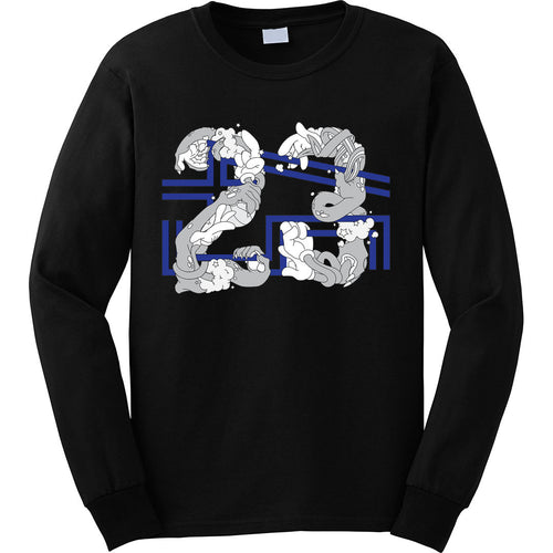 the 23 x 45 space jam 11 long sleeve tee is specially designed to match the jordan 11 space jam sneakers