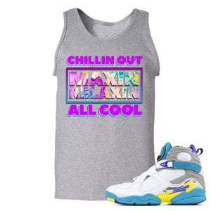Air Jordan 8 WMNS White Aqua Sneaker Hook Up Chillin Out Maxin Relaxin All Cool Sport Grey Mens Tank Top