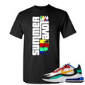 Nike Air Max 270 React Bauhaus Sneaker Hook Up Summer Love Black T-Shirt