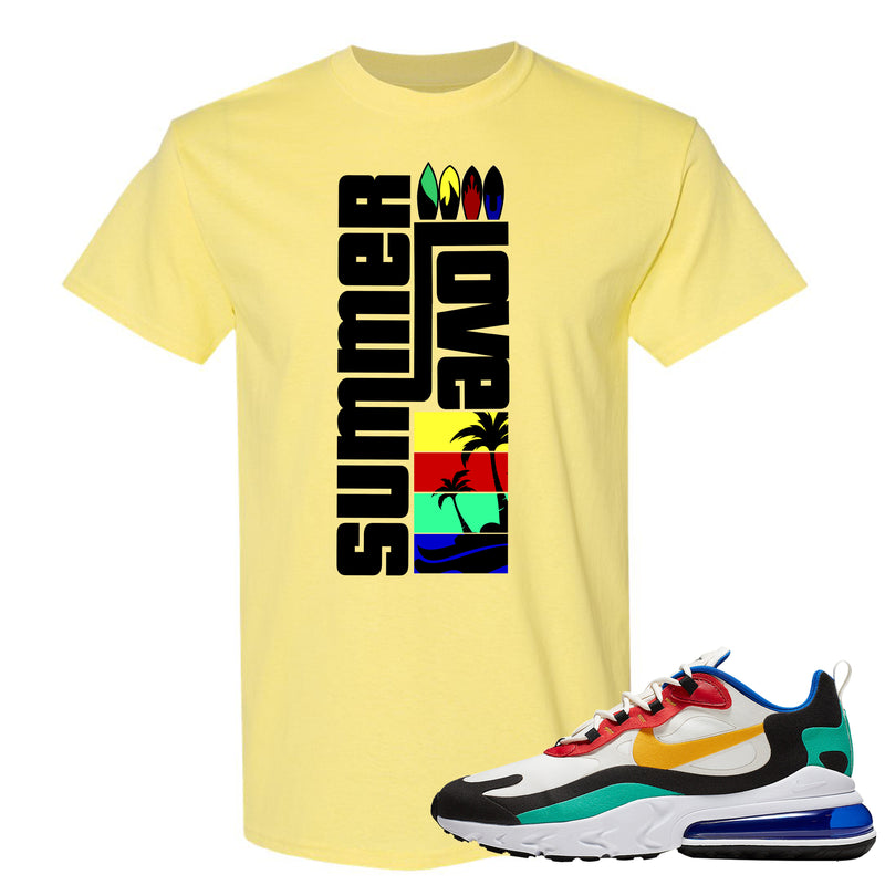 Nike Air Max 270 React Bauhaus Sneaker Hook Up Summer Love Cornsilk T-Shirt