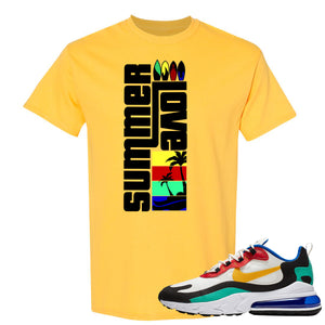 Nike Air Max 270 React Bauhaus Sneaker Hook Up Summer Love Daisy T-Shirt
