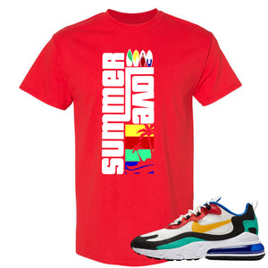 Nike Air Max 270 React Bauhaus Sneaker Hook Up Summer Love Red T-Shirt