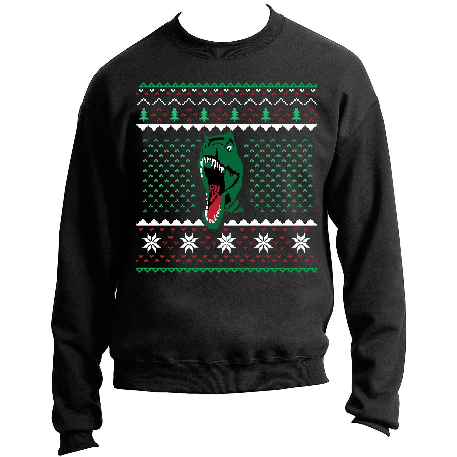 T Rex Ugly Christmas Sweater.Dinosaur T Rex Ugly Christmas Sweater