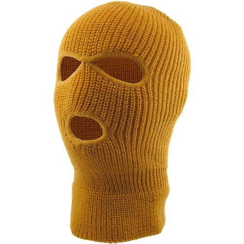 the wheat timbs 3 hole ski mask is solid timberland and has 3 holes