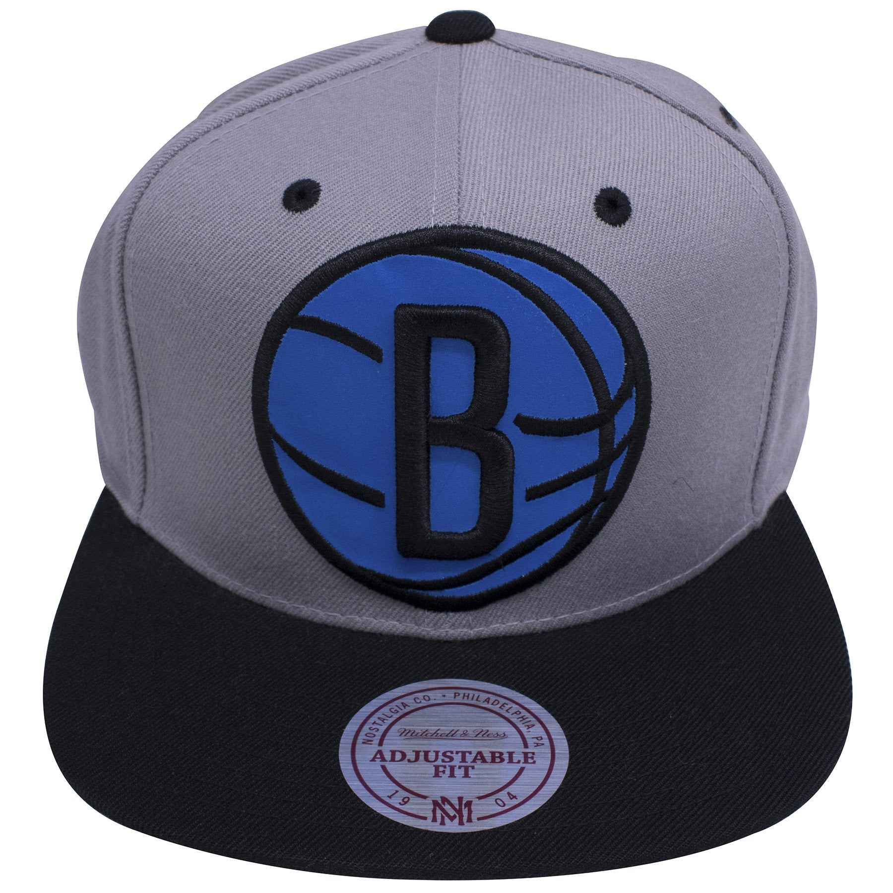 new product 0e3ad b14e2 on the front of the Brooklyn Nets XL Logo Reflective Snapback Hat, an extra  large