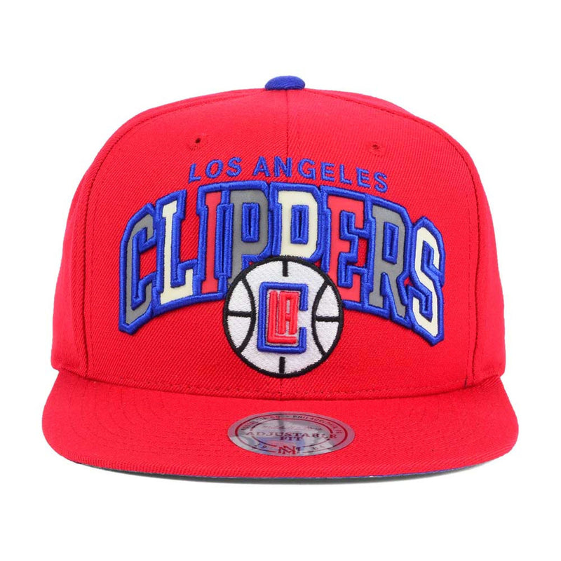 on the front of the los angeles clippers snapback hat was the los angeles clippers lettering embroidered in blue with reflective material