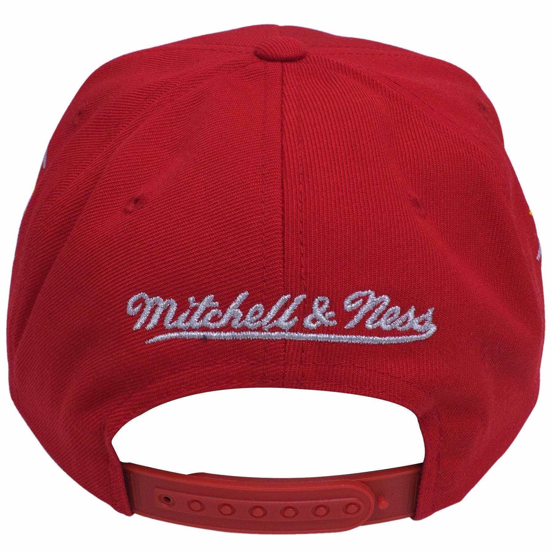 89b13c8d123831 ... on the back of the houston rockets diamond spikes mitchell and ness snapback  hat, there ...