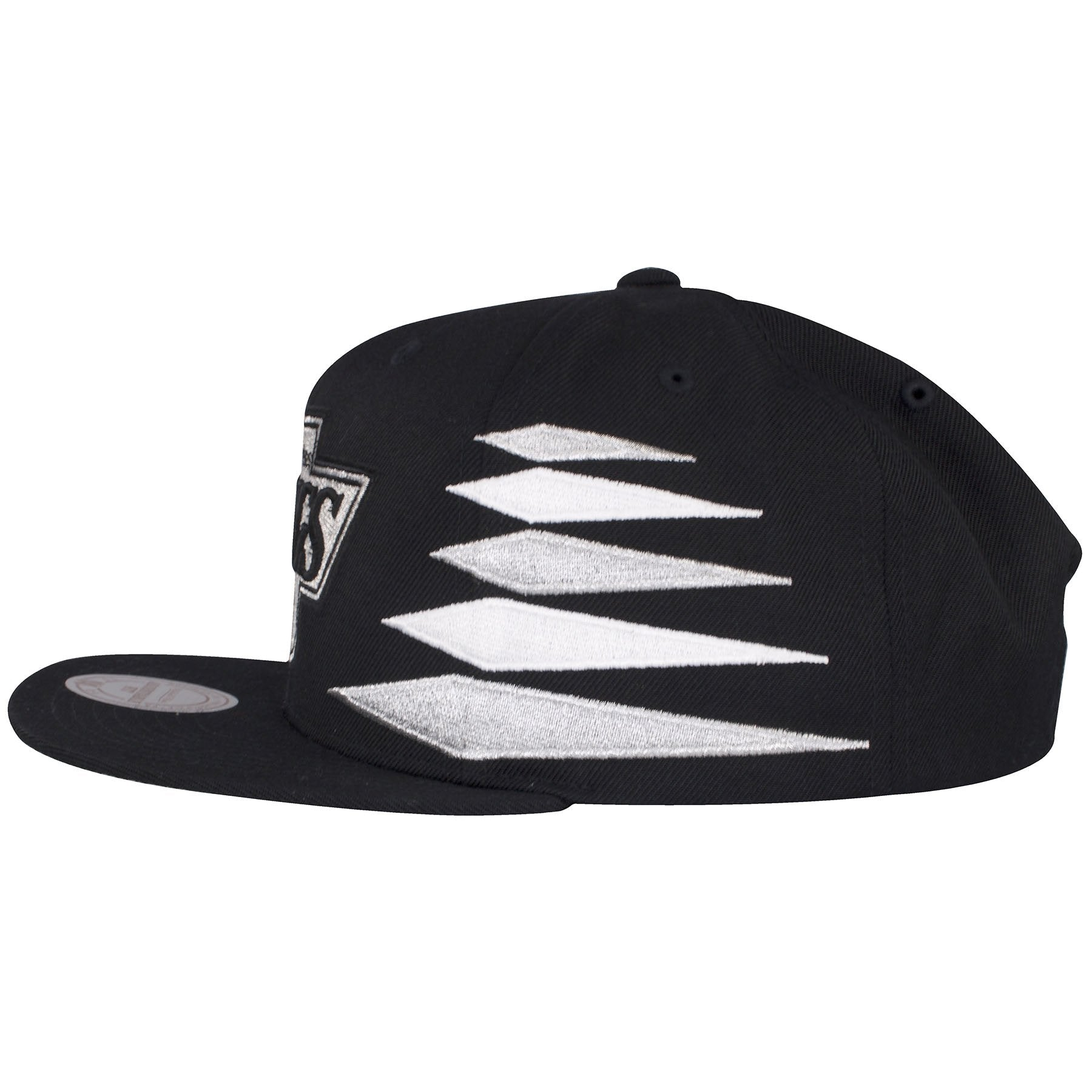 quality design aa481 60f0a ... on the side of los angeles kings diamond spikes snapback hat are  diamond embroidered spikes in ...