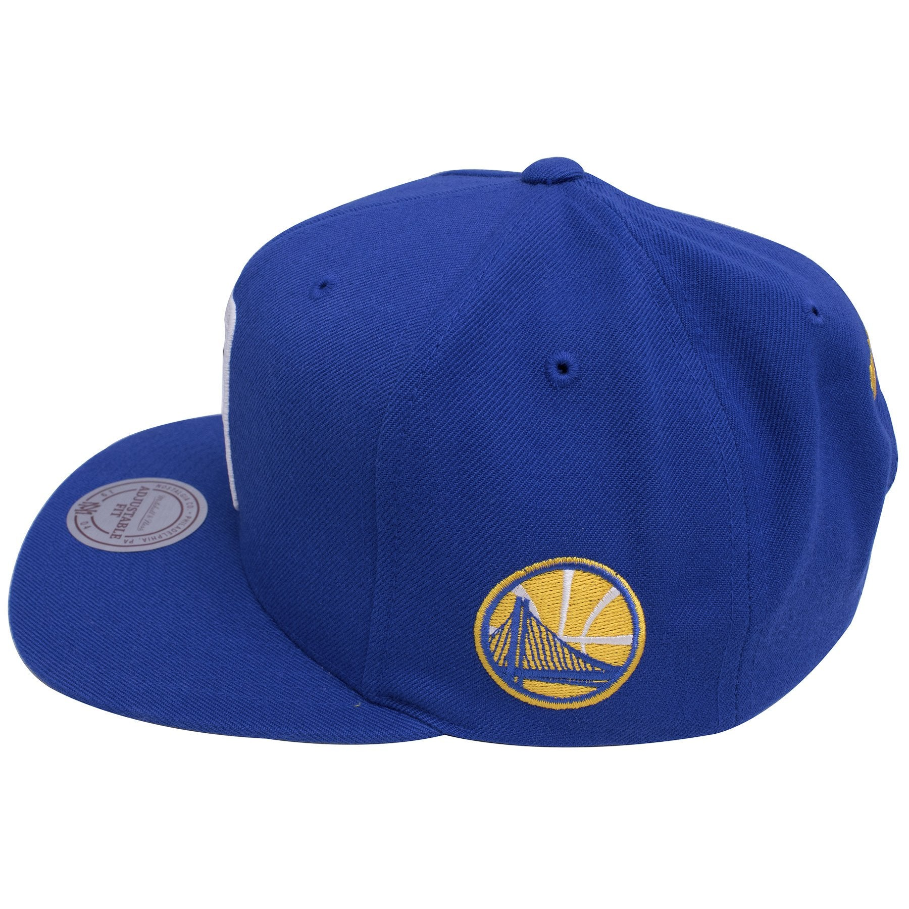83e54180c24 ... on the left side of the golden state warriors nba logo team colorway  snapback hat is ...