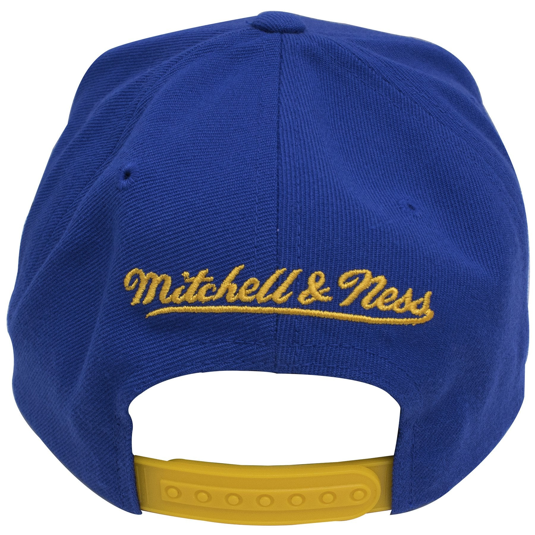 18c0648d418 ... on the back of the golden state warriors nba logo team color snapback  hat is the ...