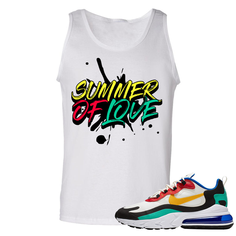 Nike Air Max 270 React Bauhaus Sneaker Hook Up Summer of Love White Mens Tank Top