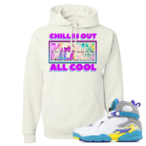 Air Jordan 8 WMNS White Aqua Sneaker Hook Up Chillin Out Maxin Relaxin All Cool White Hoodie
