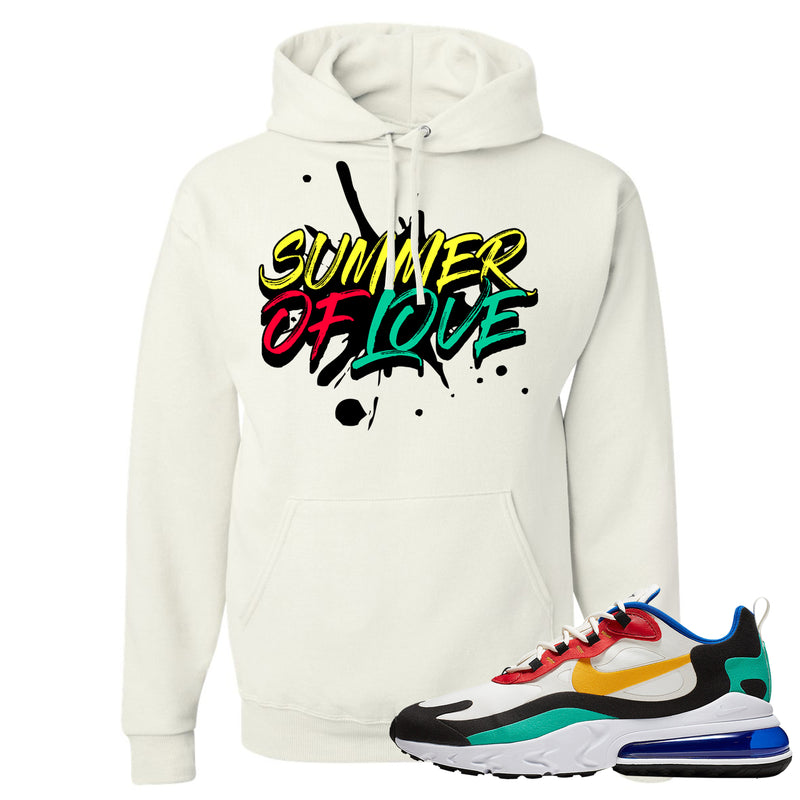 Nike Air Max 270 React Bauhaus Sneaker Hook Up Summer of Love White Hoodie