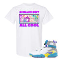 Air Jordan 8 WMNS White Aqua Sneaker Hook Up Chillin Out Maxin Relaxin All Cool White T-Shirt