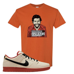 SB Dunk Low Muslin T Shirt | Escobar Illustration, Texas Orange