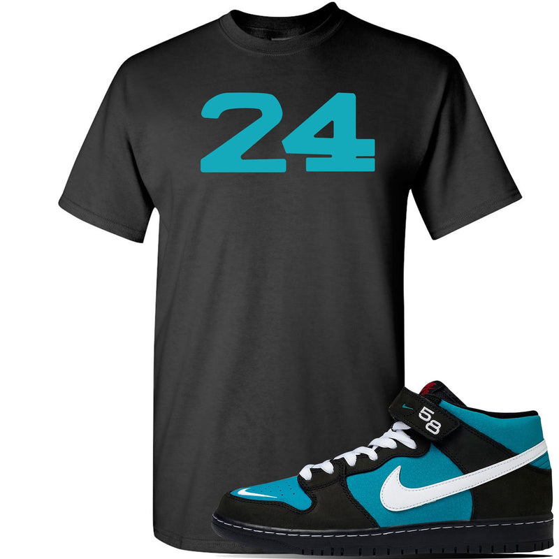 SB Dunk Mid 'Griffey' T Shirt | Black, 24