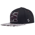 on the left side of the morehouse college maroon snapback hat is a zephyr logo embroidered in white