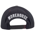 on the back of the morehouse college snapback hat is the word morehouse embroidered in white above a maroon adjustable snap