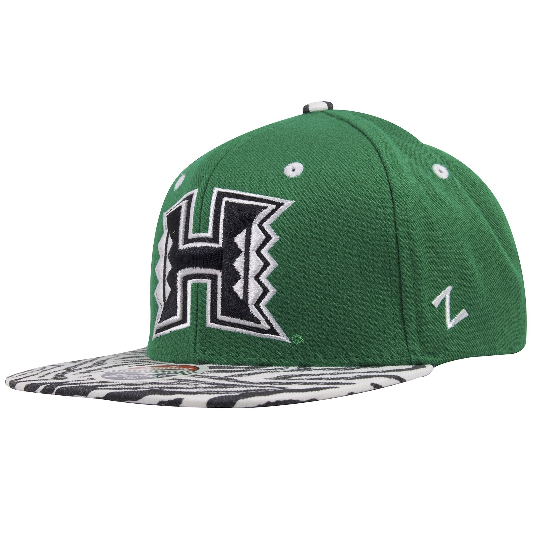 ... on the left side of the university of hawaii rainbow warriors snapback  hat is a white ... 8deb717d1e6d
