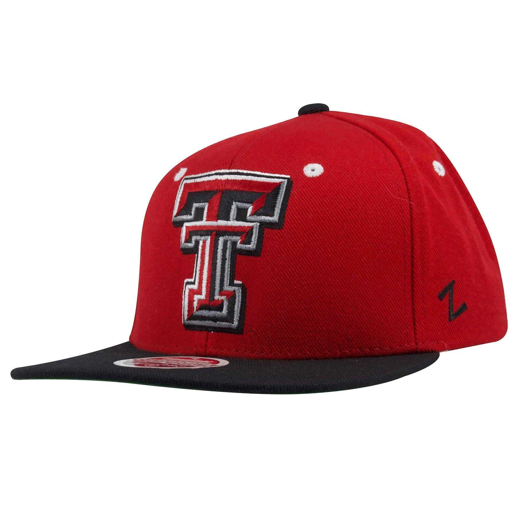 Texas Tech Red Raiders Two Tone Red on Black Snapback Hat