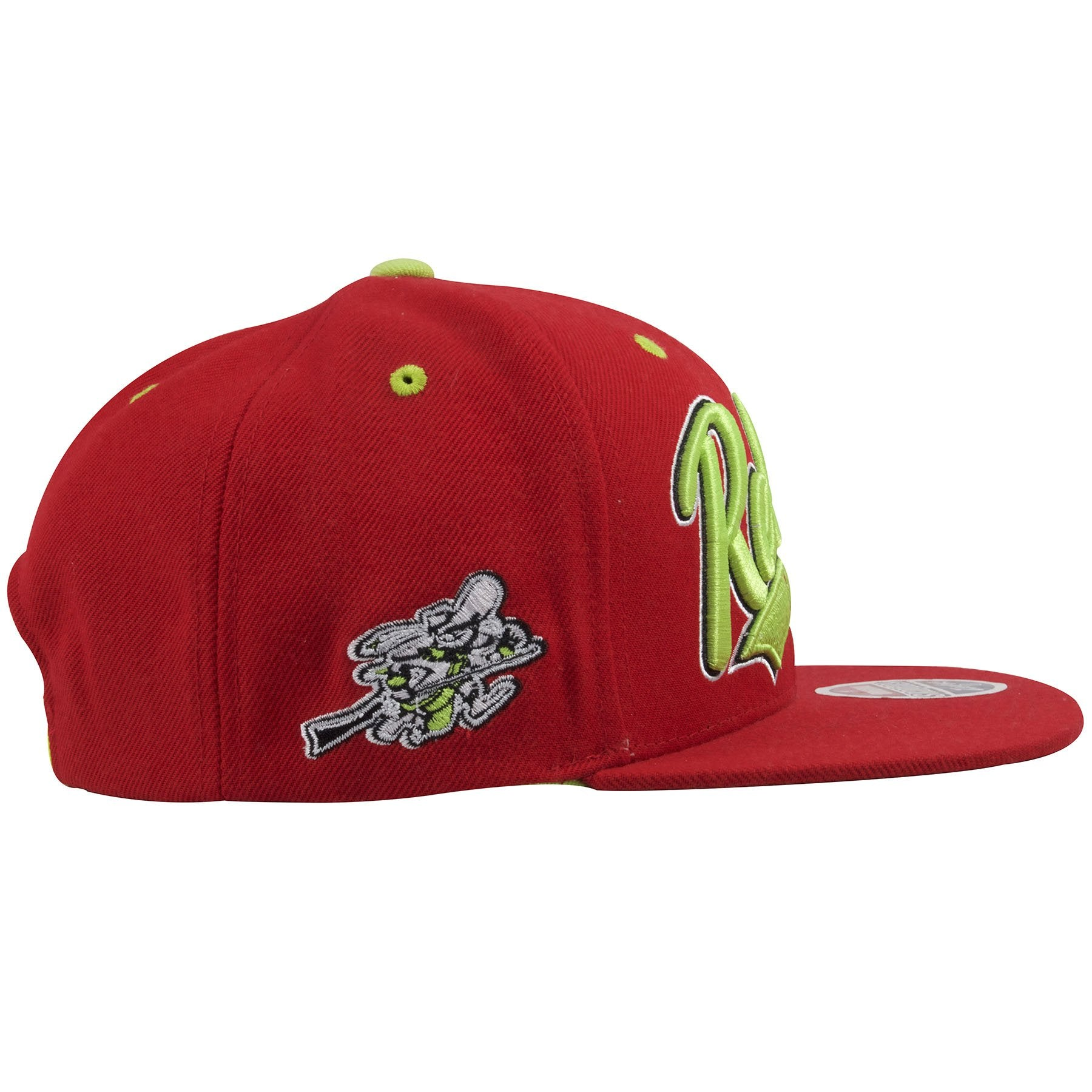 ... the right side of the unlv runnin rebels solid red snapback hat is the runnin  rebels ... b16dd5615f9b