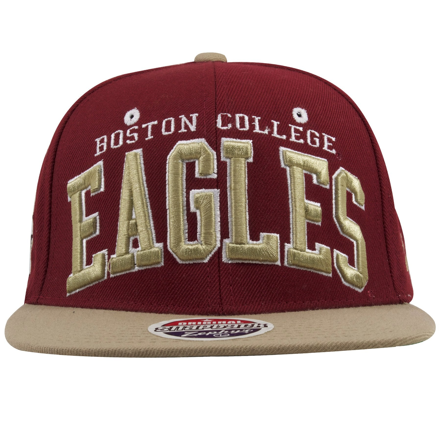 size 40 859bb 8c5e5 ... coupon on the front of the boston college snapback hat is the word boston  college embroidered