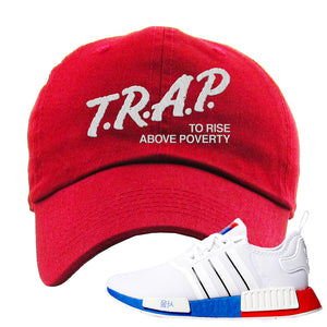 NMD R1 Seoul Dad Hat | Red, Trap To Rise Above Poverty