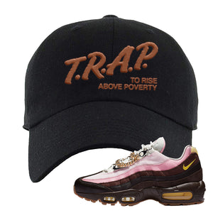 Air Max 95 Cuban Links Dad Hat | Black, Trap To Rise Above Poverty