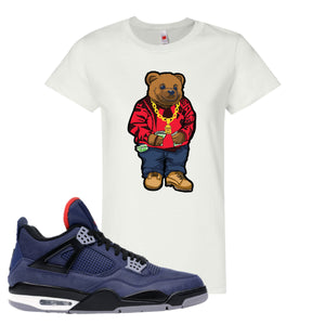Jordan 4 WNTR Loyal Blue Sweater Bear White Sneaker Hook Up Women's T-Shirt