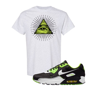 Air Max 90 Exeter Edition Black T Shirt | All Seeing Eye, Ash