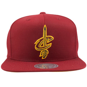 Cleveland Cavaliers Maroon Perforated Mesh Mitchell and Ness Snapback Hat